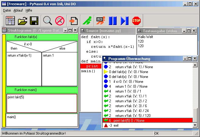 Struktogramm Editor Online